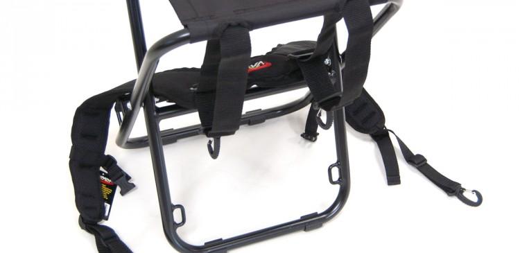 PART II: Bring longer straps around each side of seat legs.