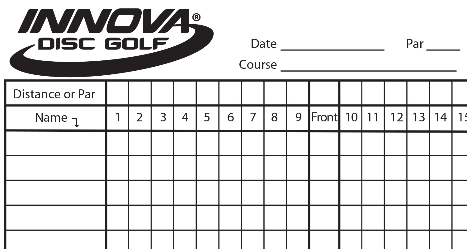 Innova scorecard innova disc golf for Blank scorecard template