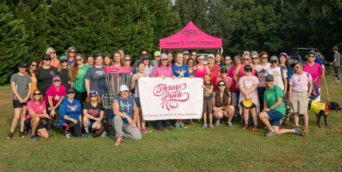 Women Discover Fun in Disc Golf at Throw Pink Event